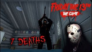 Friday the 13th the game - Gameplay 2.0 - Savini Jason - 7 Deaths