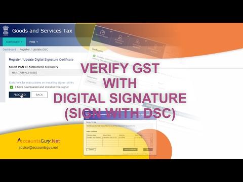 GST Registration Enrolment in India - Part 3 (Digital Sign)
