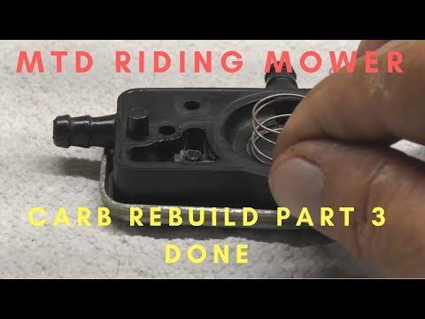 MTD Riding Mower Carb Rebuild Part 3-DONE!