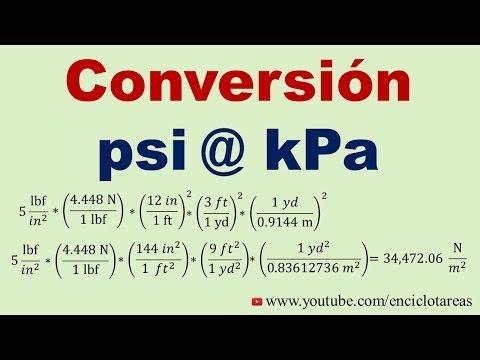 Convertir de psi a kPa