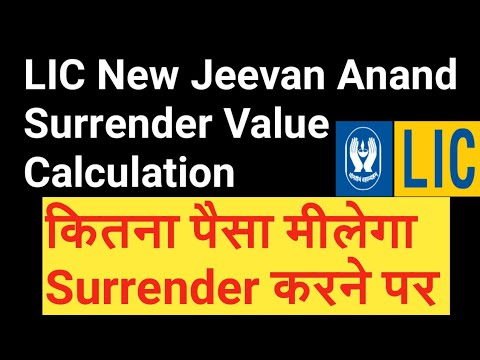 LIC New Jeevan Anand Surrender Value Calculation | Maturity Calculator & Benefits