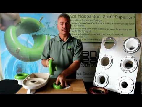 Sani Seal Toilet Gasket Flexible Waxless Seal - Universal Fit - BL01 - Wax Free Toilet Seal