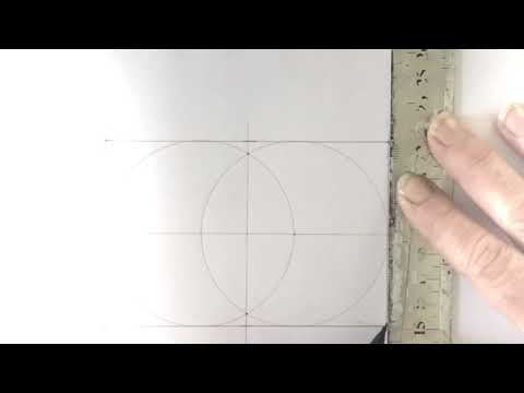 How to draw Phi from Vesica Pisces. The Golden Ratio.