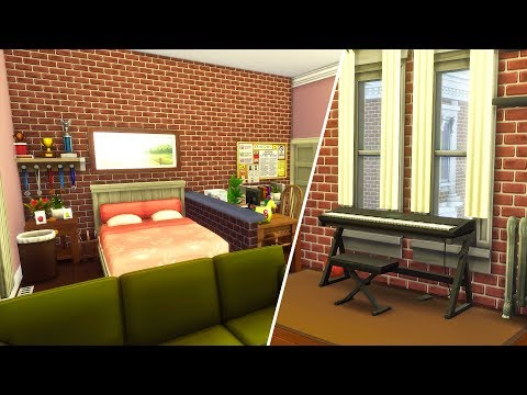 Esther's University Dorm // The Sims 4: Room Build