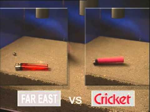 Cricket Lighter - Drop Test
