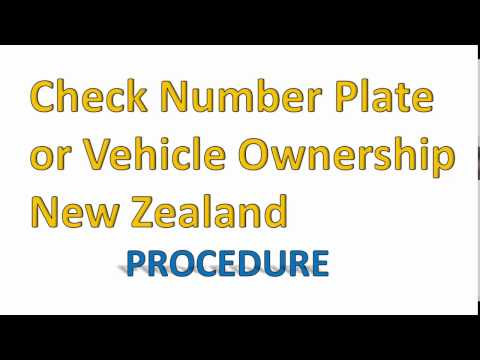 Check NZ Vehicle Ownership or Number Plates