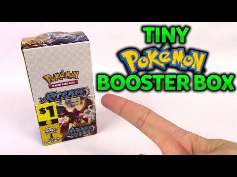 TINY Pokemon Booster Box Opening!! Dollar General Pokemon Cards Steam Siege