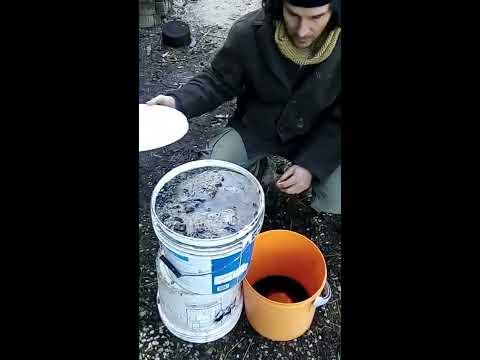 making lye from hardwood ash part 2