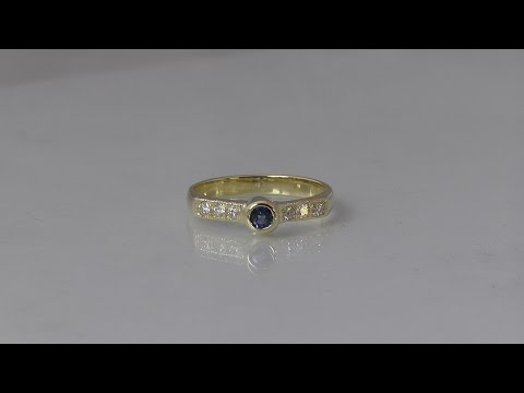 How to make a sapphire and diamond ring by hand using unwanted jewellery