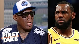 MJ is the GOAT over LeBron, would average 50 points if he played today - Dennis Rodman | First Take