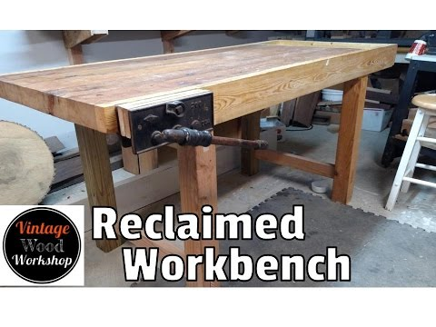 Reclaimed Barn Wood Workbench  - Vintage Wood Workshop