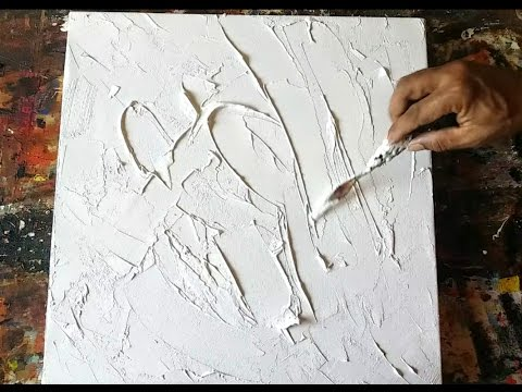 Texture #abstract #how to gesso canvas #texturing #technique #acrylic abstract painting