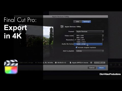 Export In 4K Directly From Final Cut Pro X