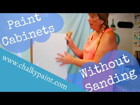 How to Paint Cabinets without Sanding or Priming using Chalky Paints