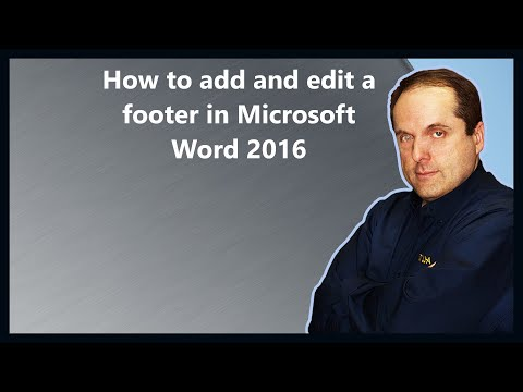 How to add and edit a footer in Microsoft Word 2016