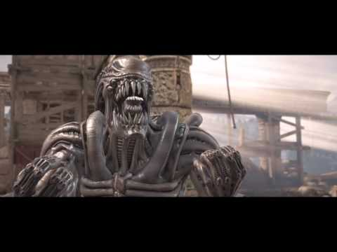 Mortal Kombat XL Alien Chestburster outro on Predator