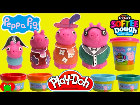 Peppa Pig Mold N Play 3D Figure Maker with Softee Dough and Play Doh