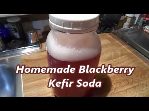 Homemade Blackberry Kefir Soda