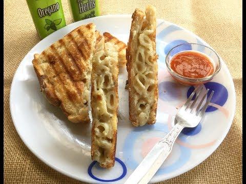 Mac n Cheese Sandwich | Easy Tiffin Box and Breakfast Recipe | Indian Breakfast Recipe - In Bengali