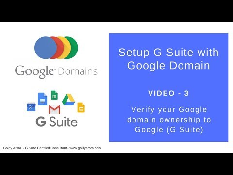 How to verify your google domain ownership to G Suite