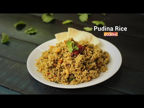 Pudina Rice | Mint Rice | Lunch Box Recipe | Ventuno Home Cooking