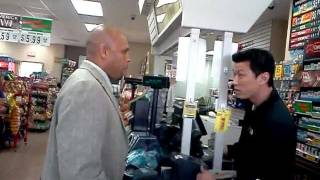 Gas station argument!