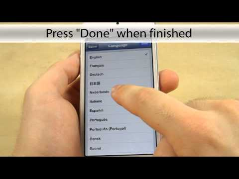 How to change Language on the Apple iPhone 5