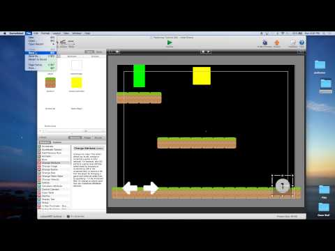 Platformer Tutorial for GameSalad Creator 002 - On-Screen Controls / Scrolling the Screen