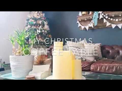 My Christmas tips on Decorating your Coffee Table !