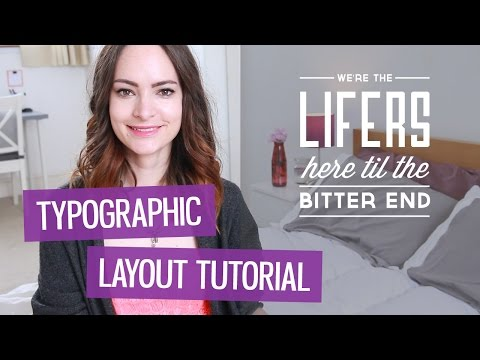 How to design a typographic layout | CharliMarieTV