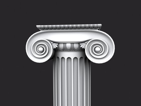 3ds Max tutorial Modeling Classic Column