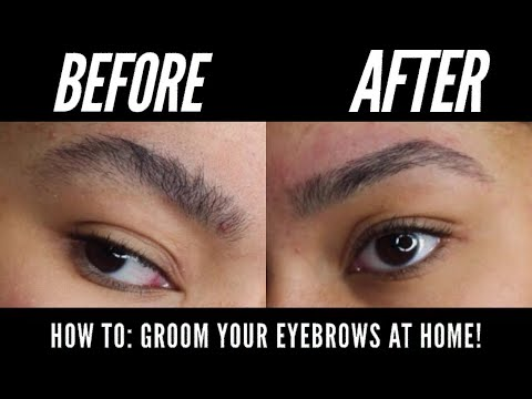 HOW I GROOM MY EYEBROWS AT HOME!   EASY TUTORIAL