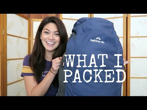WHAT'S IN MY BACKPACK // New Zealand