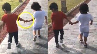 Taimur Ali Khan CUTE Video HOLDING Friend Ranvir Gupta's Hand
