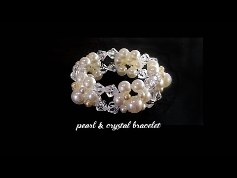 Pearl And Crystal Bracelet Tutorial Fashion Jewelry DIY