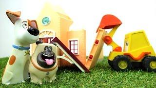 Max der Bagger baut ein Krankenhaus für Max und Mel aus Pets – Video für Kleinkinder auf Deutsch