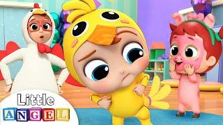 Baby John Does the Chicken Dance | Little Angel Nursery Rhymes & Kids Songs