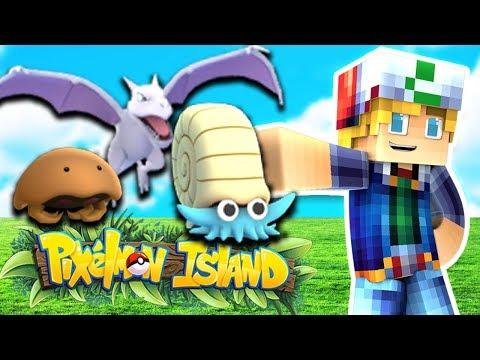 RARE FOSSIL POKEMON!?! (Minecraft Pokemon) Pixelmon Island #4