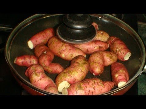 Sweet Potatoes Cooking - Perfectly on a Pan or in a Pressure Cooker