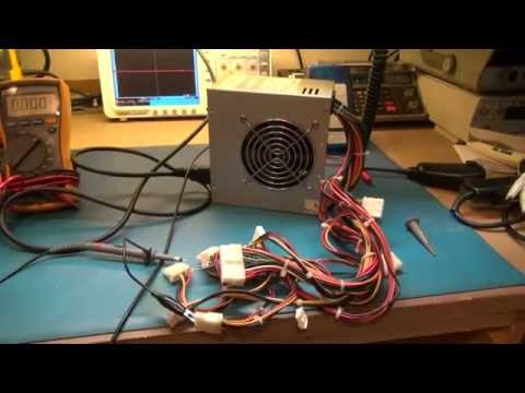Computer ATX Power supply Repair Test After repair.