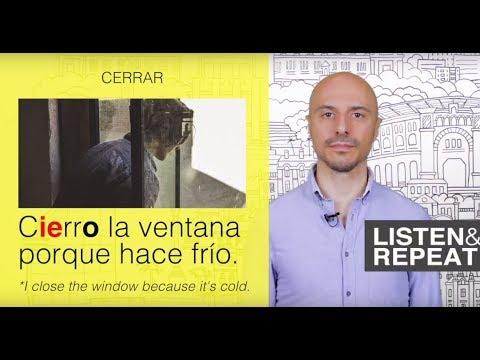 Learn Spanish: (90) Irregular verbs: E to IE change