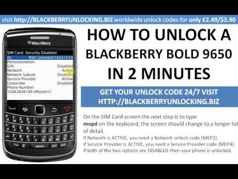 how to unlock a blackberry bold 9650  using a mep mep2 unlock code