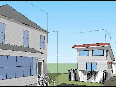 Solar Exposure Sketchup Movie. Building a 2nd unit guest house for under 30,000