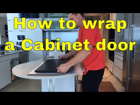 How to Wrap a Cabinet Door using Belbien material Rm wraps