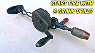 How to Start Fire with a Crank Drill?
