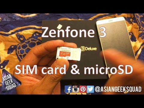 ASUS Zenfone 3 Deluxe - SIM 1, 2 (micro, nano SIM, microSD)