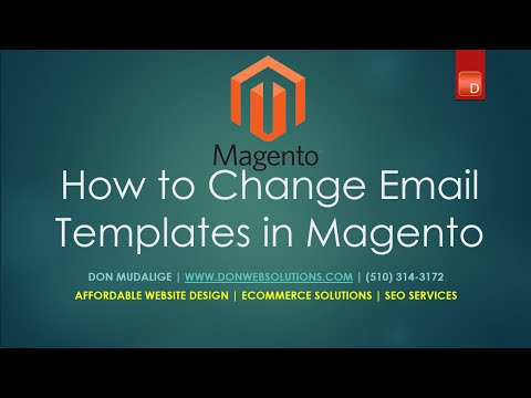 Customizing Magento email templates - Edit Store emails in Magento