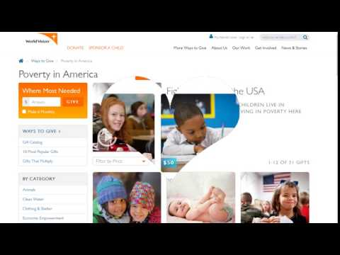 Donate to End Poverty in America   U.S. Poverty   World Vision