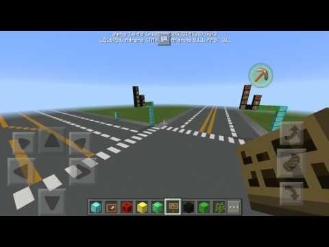 Minecraft PE: Building Goudy Road in future Gamehub City