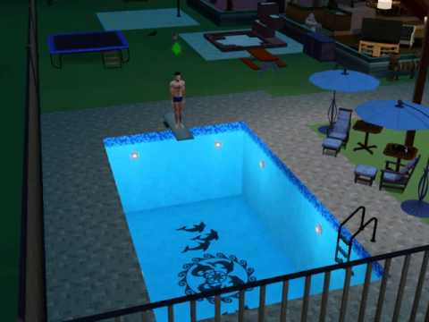 Sims 3 - Awesome Diving Board Dive